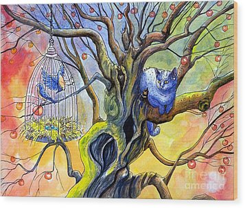 Wishfull Thinking Wood Print by Margaret Schons