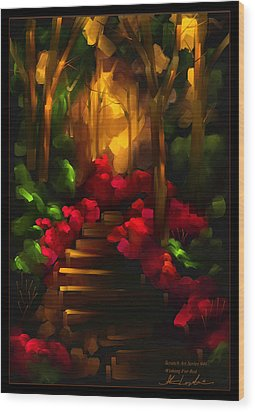 Wishing For Red - Scratch Art Series - #46 Wood Print by Steven Lebron Langston