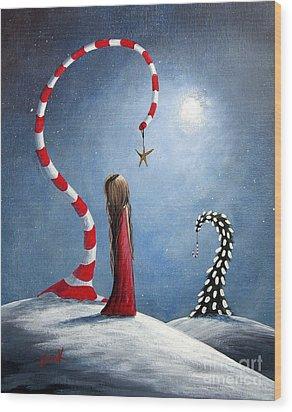 Wishing Star By Shawna Erback Wood Print by Shawna Erback