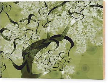 Wishing Tree Wood Print