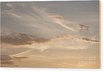 Wood Print featuring the photograph Wispy Sunset by Debi Dmytryshyn