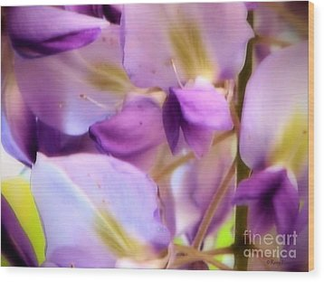 Wood Print featuring the photograph Wisteria Kisses by Roxy Riou