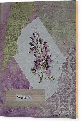 Wisteria Wood Print by Tamyra Crossley