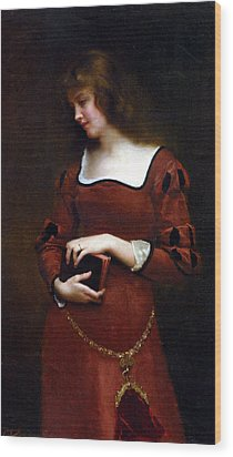 Wistful Thoughts Wood Print by Gustave Jean Jacquet