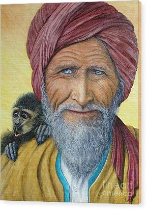 Wit And Wisdom Wood Print by Joey Nash