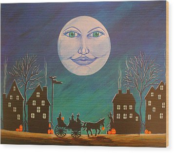 Witch Moon Wood Print by Christine Altmann
