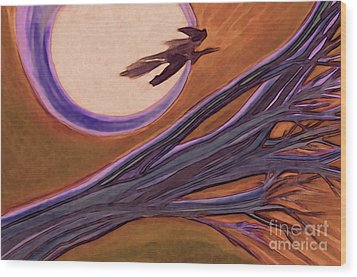 Witches' Branch Purple Wood Print by First Star Art