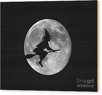 Witchy Moon Wood Print by Al Powell Photography USA