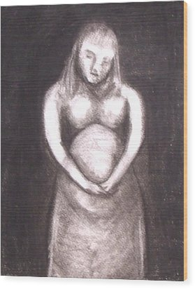 With Child Wood Print