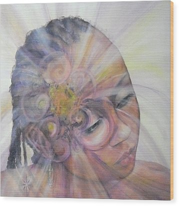 With Dahlia Wood Print by Jodie Marie Anne Richardson Traugott          aka jm-ART
