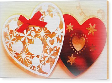 ...with Love Wood Print by The Creative Minds Art and Photography