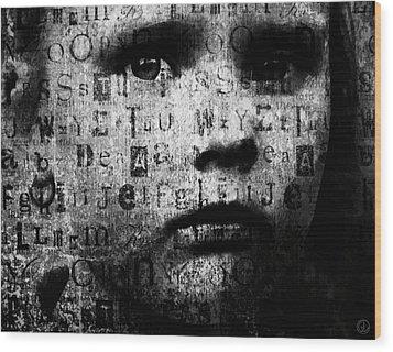 With No Language Wood Print by Gun Legler