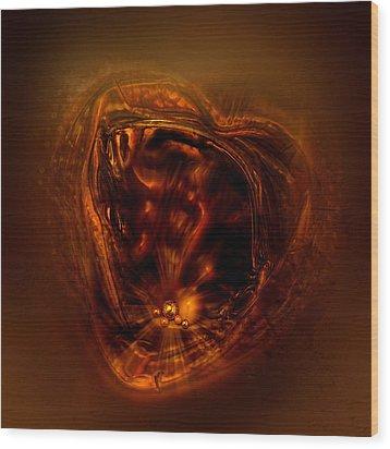 Within My Heart Wood Print by Li   van Saathoff