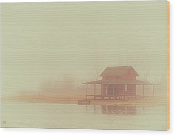 Within The Fog Wood Print by Karol Livote