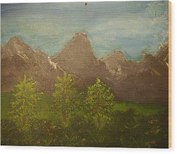 Within The Mountains Wood Print by Joshua Massenburg
