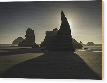 Wizards Hat Bandon Beach Wood Print by Jean-Jacques Thebault