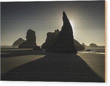 Wizards Hat Bandon Beach Wood Print