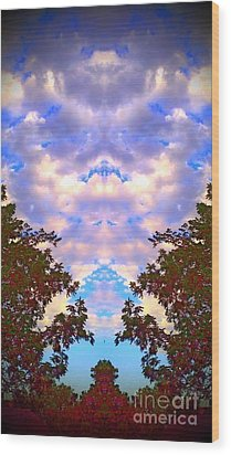 Wood Print featuring the photograph Wizards In The Clouds by Karen Newell