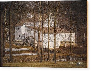 Wolcott Mill Wood Print by Grace Grogan