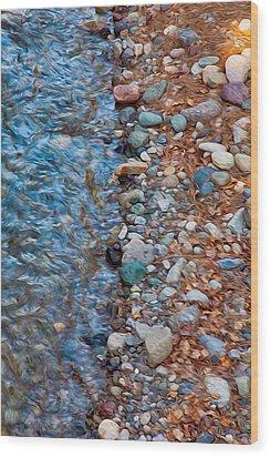 Wolf Creek Downstream Wood Print by Omaste Witkowski
