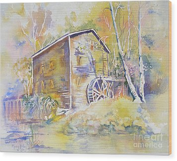 Wolf Creek Grist Mill Wood Print by Mary Haley-Rocks