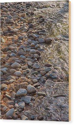 Wolf Creek Upstream Wood Print by Omaste Witkowski
