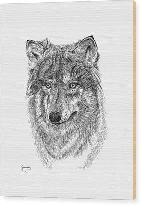 Wolf II Wood Print