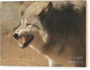 Wolf Power Wood Print