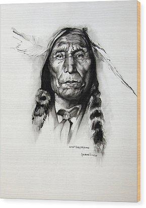 Wolf Robe - Cheyenne Wood Print