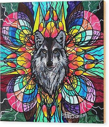 Wolf Wood Print by Teal Eye  Print Store