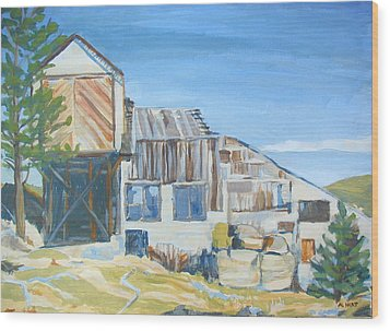 Wolf Tongue Mine Mill Wood Print by Al Hart