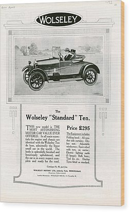 Wolseley 1923 1920s Usa Cc Cars Wood Print by The Advertising Archives