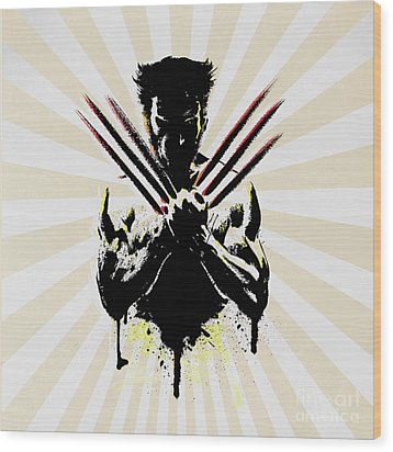 Wolverine Wood Print by Mark Ashkenazi
