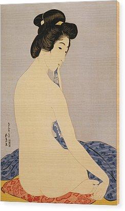 Woman After Bath Wood Print by Georgia Fowler