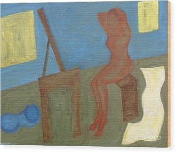 Woman After Bathing Wood Print by Patrick J Murphy