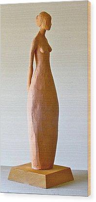 Woman Wood Print by Deborah Dendler