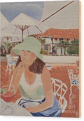 Woman In Mazatlan Wood Print by Debra Chmelina