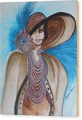 Woman Lost Wood Print by Suzanne Thomas