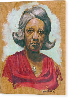 Woman Of Color Wood Print by Harry West