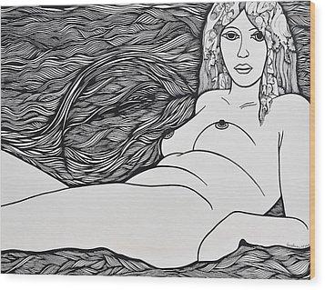 Woman Of Fifty Wood Print by Jose Alberto Gomes Pereira