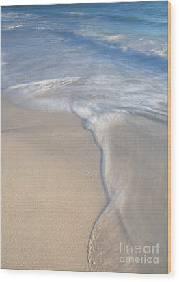 Wood Print featuring the photograph Woman On Beach by Chris Scroggins