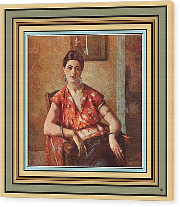 Woman Sitting In Chair Wood Print by Gary Grayson