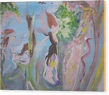 Woman The Nurturer Wood Print by Judith Desrosiers