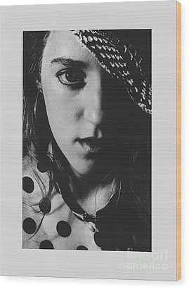 Wood Print featuring the photograph Woman With Hat by Jeepee Aero