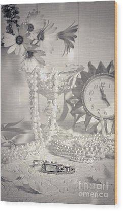 Womans Dressing Table Wood Print by Amanda Elwell