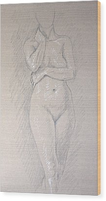 Woman's Torso Wood Print by Deborah Dendler