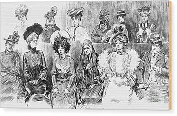 Women Jurors 1902 Wood Print by Padre Art