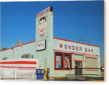 Wonder Bar Asbury Park Wood Print by James Kirkikis