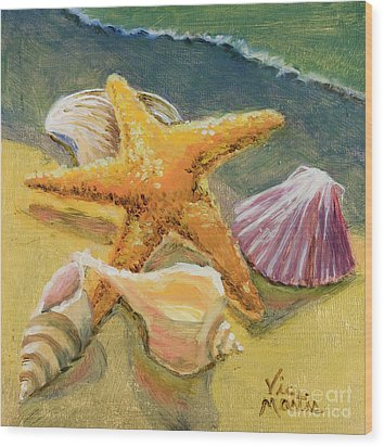 Wood Print featuring the painting Wonderful Find by Vic  Mastis