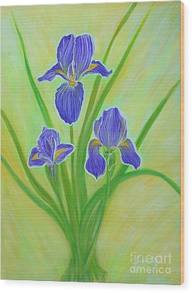 Wonderful Iris Flowers. Inspirations Collection. Wood Print